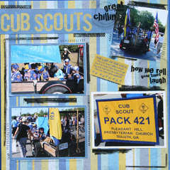 Cub Scouts-great friends chillin