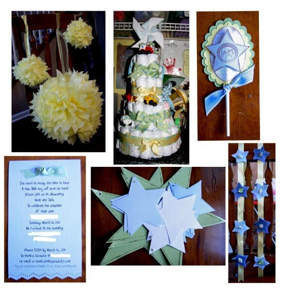 Baby Shower decor and invite