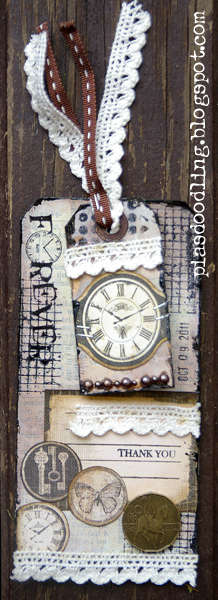 Tag with gesso