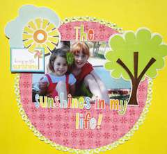 The Sunshines in my life! Better Living Through Scrapbooking Newsletter Sketch!!