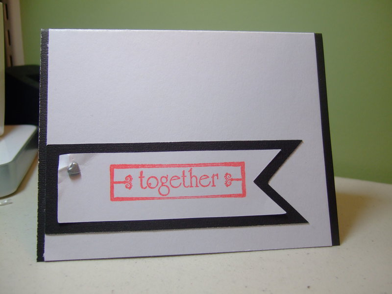 ~together~ wedding card