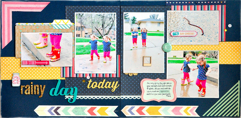 A Rainy Day Today ~Scrapbook Circle & American Crafts~