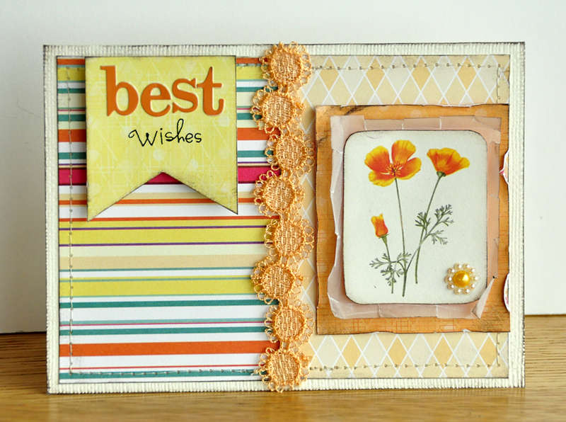 Best Wishes Card ~Webster's Pages~