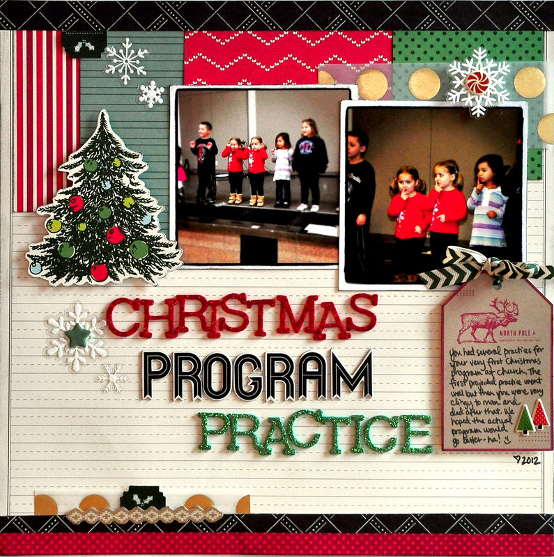 Christmas Program Practice ~American Crafts~