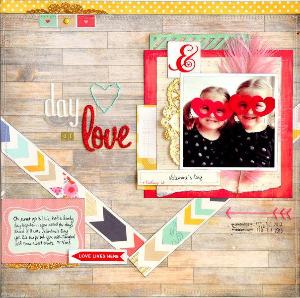 Day of Love ~American Crafts & Scrapbook Circle~