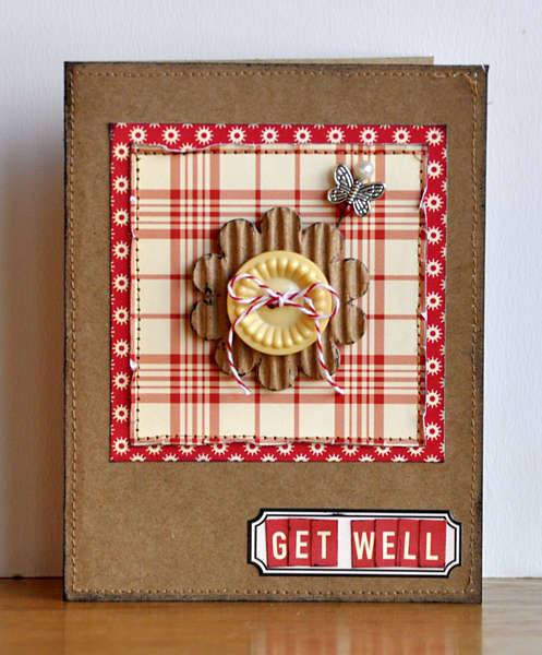 Get Well card ~Midnight Rooster January Kit~