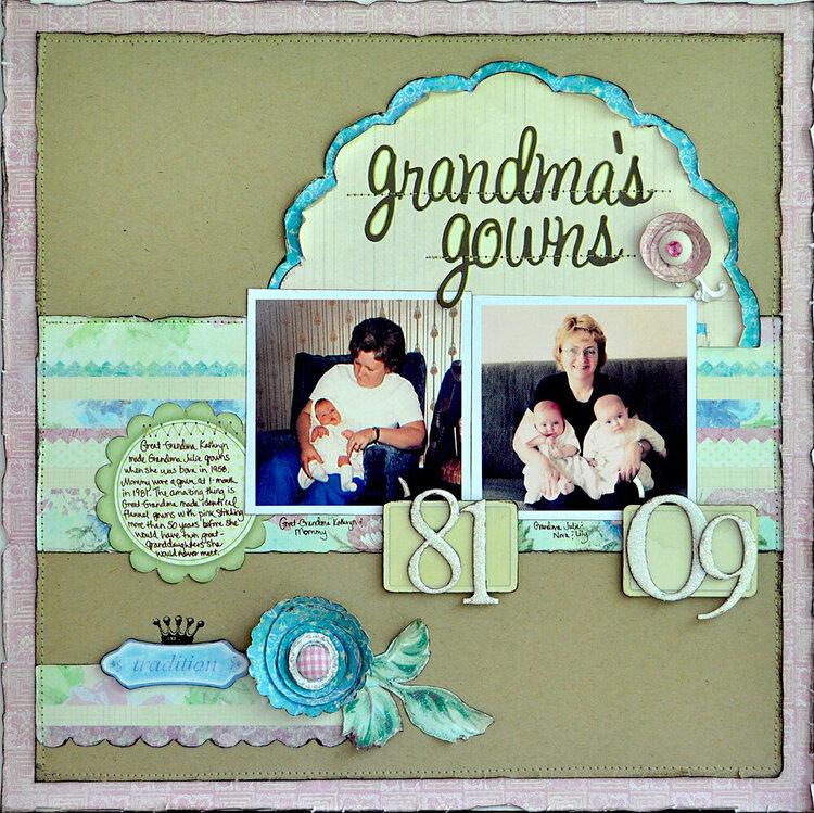 Grandma's Gowns ~NEW Melissa Frances~