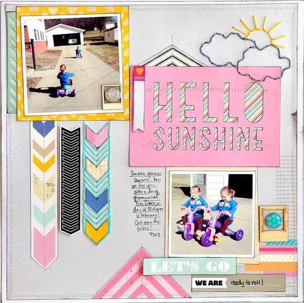 Hello Sunshine ~American Crafts & Scrapbook Circle~