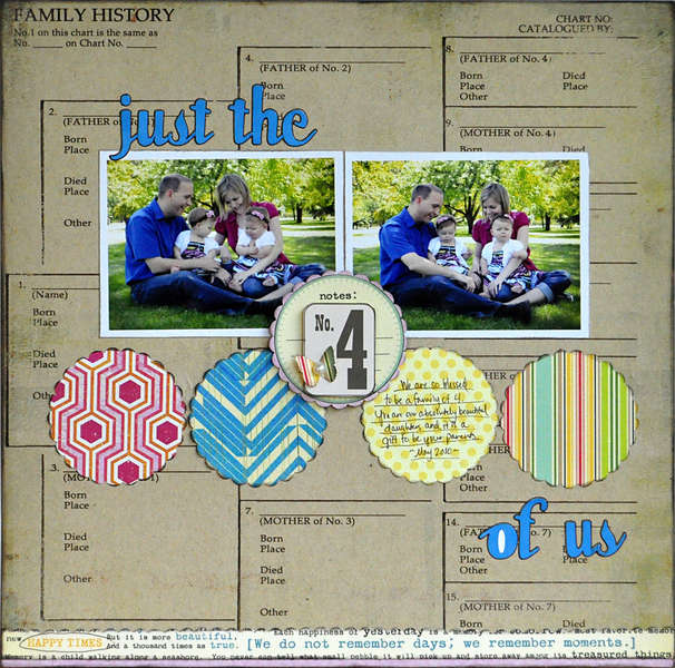 Just the 4 of Us ~Midnight Rooster August Kit~