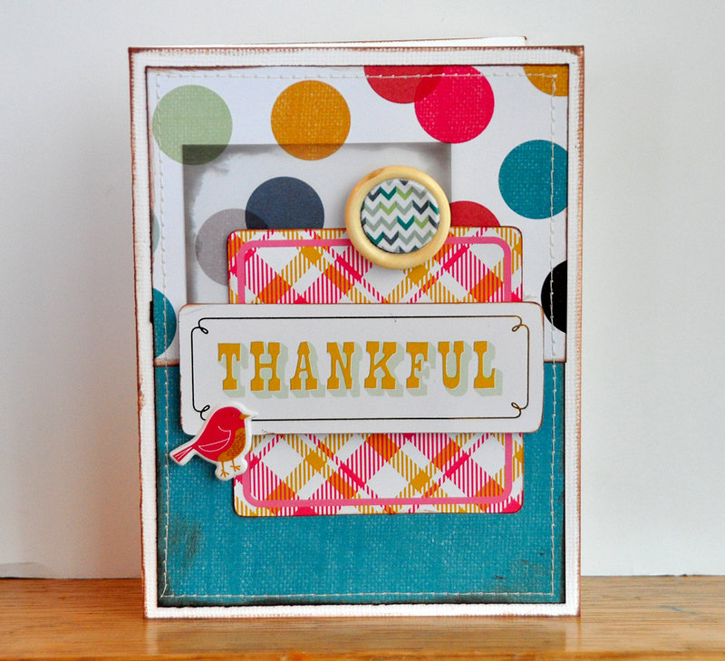 Thankful card ~American Crafts~