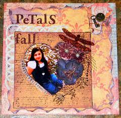 Petals fall