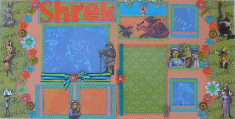 Shrek 12x12 premade pages