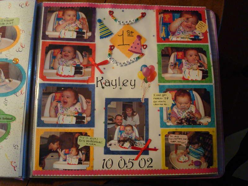 Kayley's first birthday