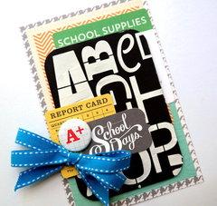 School Days Card - Tando Creative Chipboard