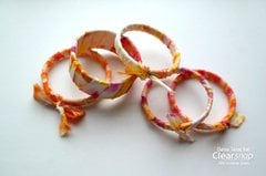 Izink-Dyed Fabric Wrapped Bangles - Clearsnap