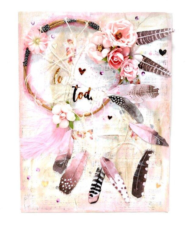 Love Today Dream Catcher Canvas - Scraps of Darkness