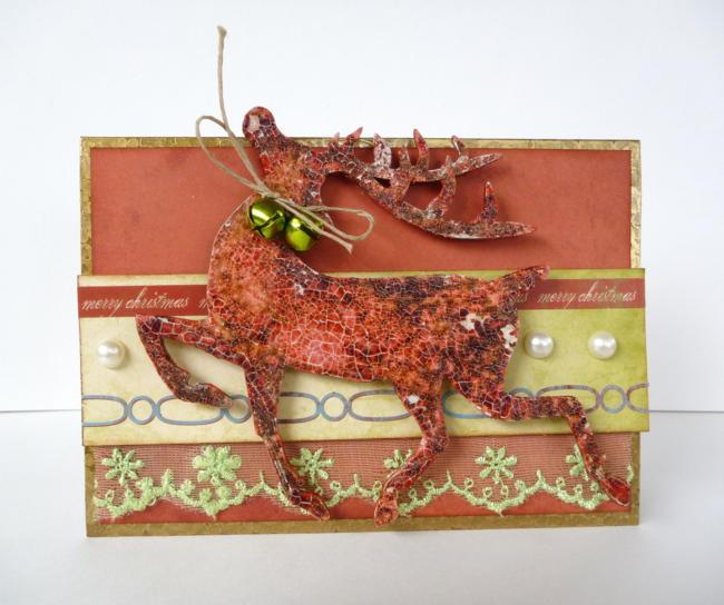 Merry Christmas Card - Moxxie/Tando Creative Chipboard