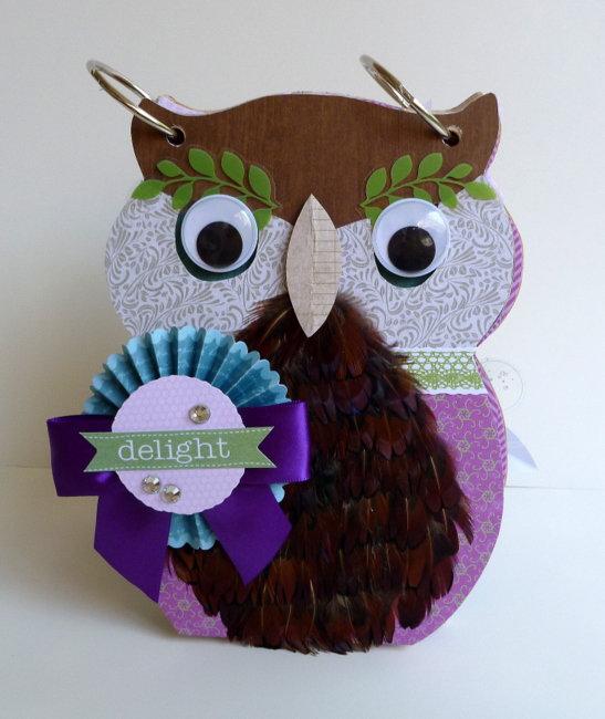 Owl Mini Album - Creative Inspirations Paint