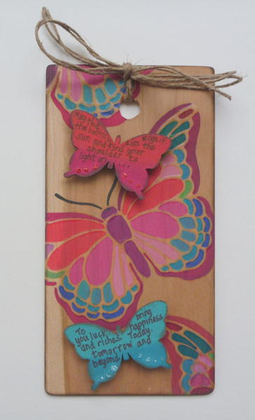 Butterfly Tag - Tando Creative Chipboard