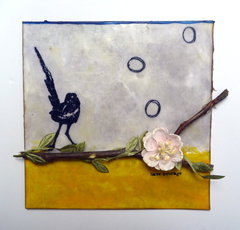 Courage Encaustic Wax Panel - Paper Wings Productions