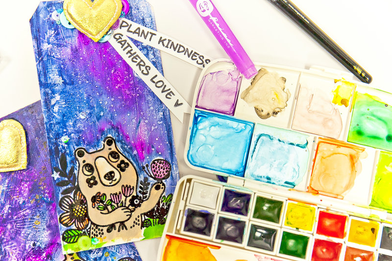 Lesson 6 - How to Mix Stamp Techniques with Background and Coloring Techniques