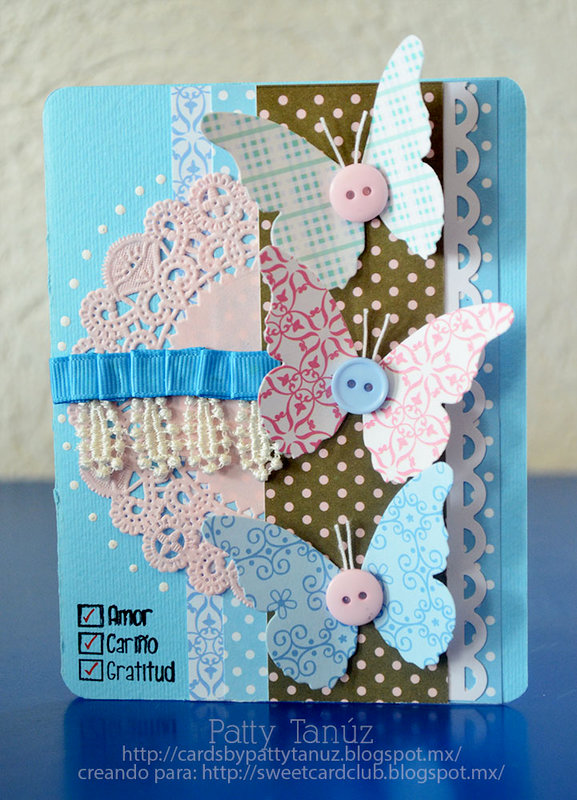 CARD WITH BUTTERFLIES:)