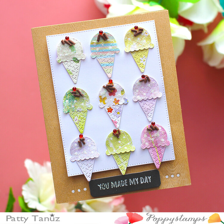 YOU MADE MY DAY CARD WITH POPPYSTAMPS