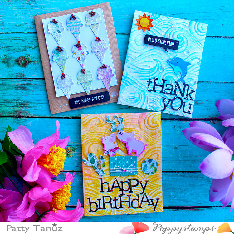 Beautiful cards for Poppystamps!