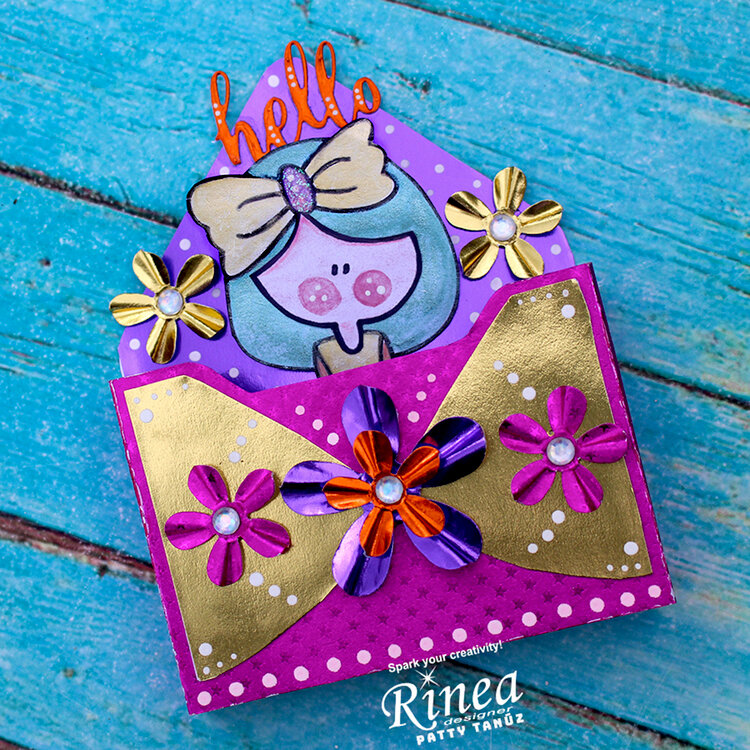 ENVELOPE BOX CARD WITH RINEA FOILS