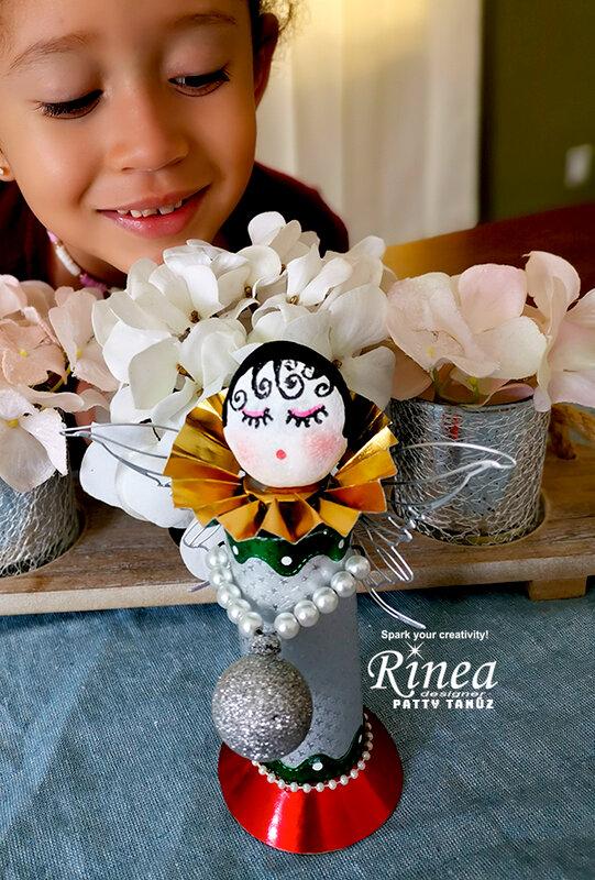 Christmas Angel with Rinea Foils!