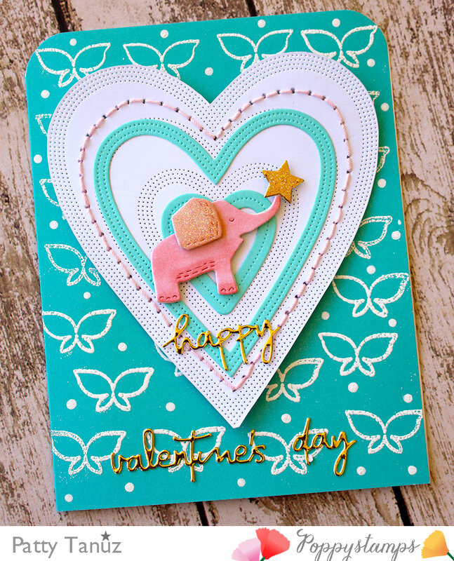 Happy Elephant Card (Poppystamps)