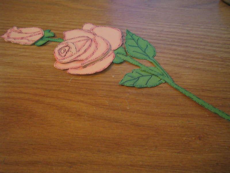 Rose paper piecing