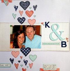 K & B/ Hearts
