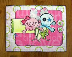 Love Card - Pink Paislee