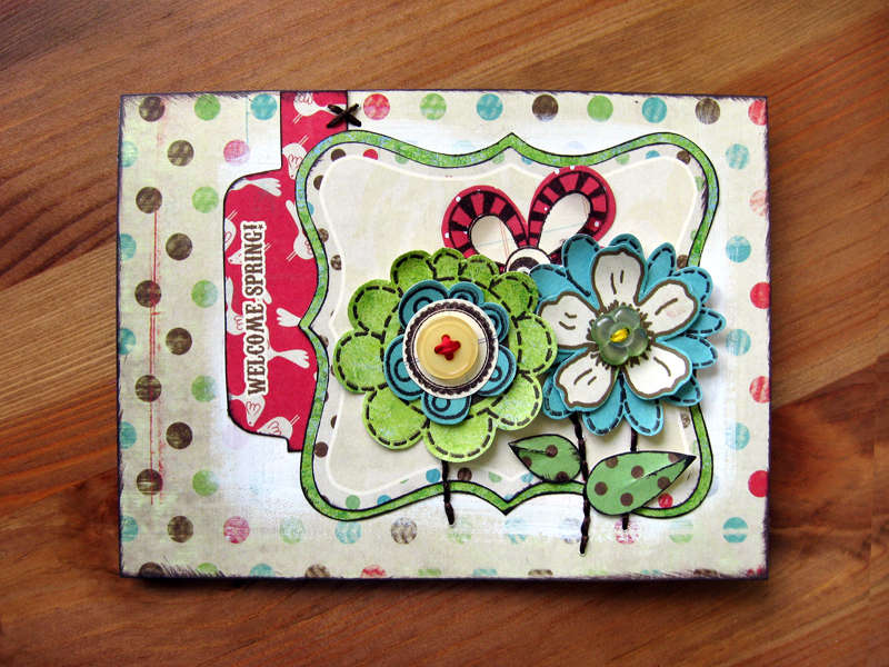 Spring Fling Card - Pink Paislee