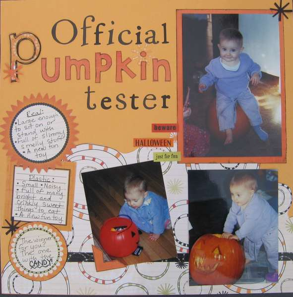 Official Pumpkin tester left side