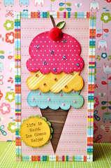 Life is Hard--Ice Cream Helps Card