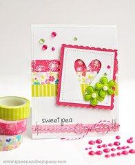Sweet Pea Baby Card