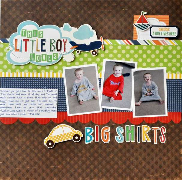 This Little Boy Loves Big Shirts