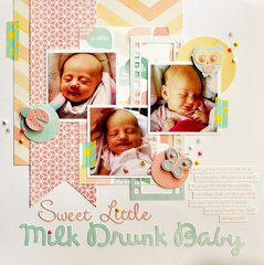 Sweet Little Milk Drunk Baby