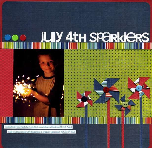 July 4th Spraklers