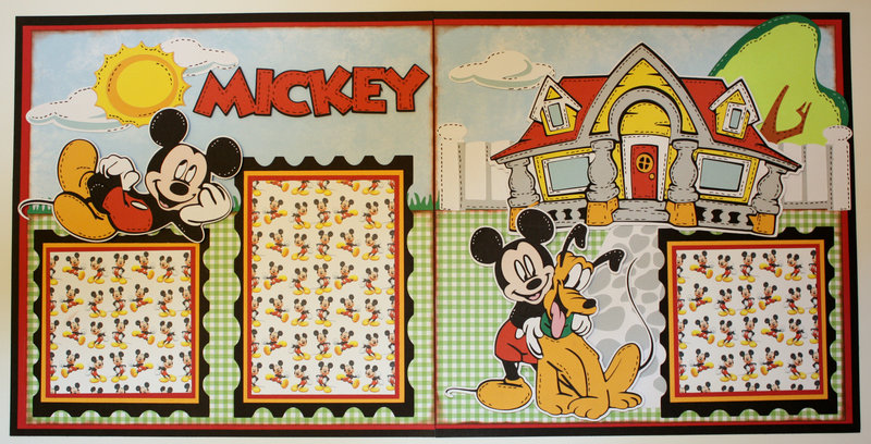 """Disney Complete Album: Mickey Mouse Double 12""""x12"""" Layout"""
