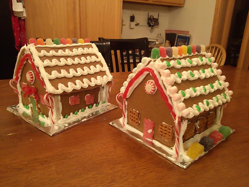 Both Gingerbread Houses