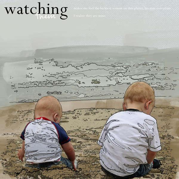 Watching them