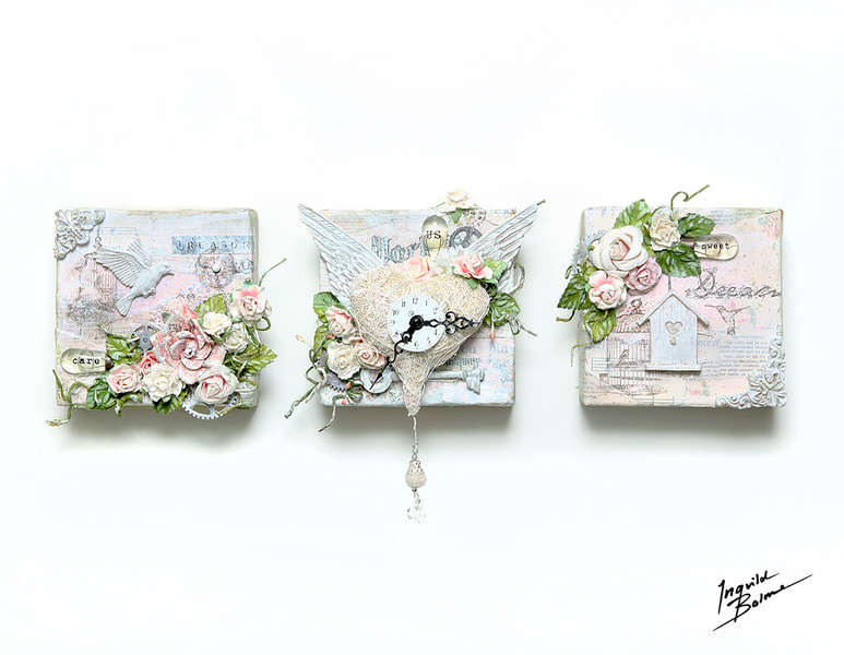 3 of Love - 3 x canvas