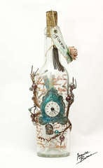 Altered Wine Bottle with a treasure inside...