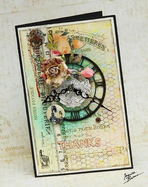Thanks card * Prima, Dusty Attic and Scrapbookshop.ru *