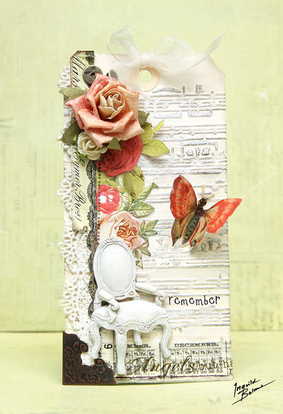 """Shabby Chic """"remember"""" tag *Prima and Sizzix*"""