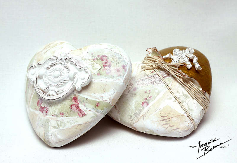 Altered Decorative Hearts ***GDT Melissa Frances***