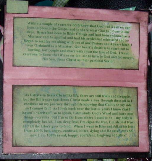 Choose Life Testimony Album, Page 11 Hidden Journaling